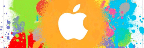 Apple ad splash screen